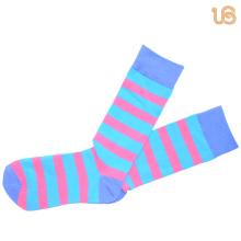 Men′s Stripe Pattern Happy Sock