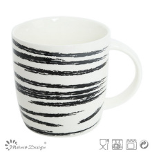 12oz Ceramic Mug with Scrape Decal Design