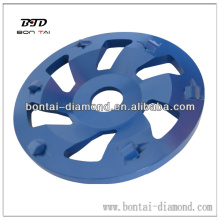 7 inch PCD grinding disc for floor coating removal, expoxy and paint grinding