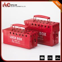 Elecpopular Cheap Price Portable Red Metalic Multipurpose Lockout Box com Power Coating
