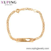 75144 Xuping plomb et alliages sans danger alliage de bijoux de mode en or 18 carats bracelet de charme