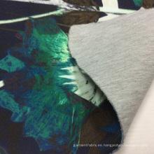 Sandwich de punto impreso tela de la ropa para invierno chaqueta