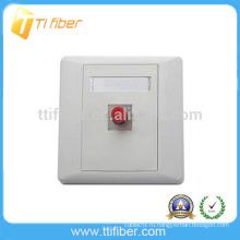 Однопортовая оптоволоконная лицевая панель FC / настенная панель