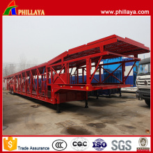 32 Meters Tri-Axle Open Frame Car Transport Trailer