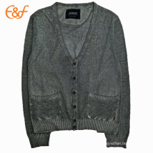 Suéteres con botones estilo cárnico para hombres