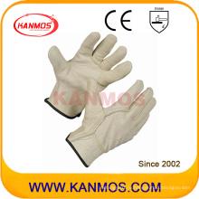 Свинья зерна Промышленные безопасности Ручные водители Кожаные рабочие перчатки (22203)