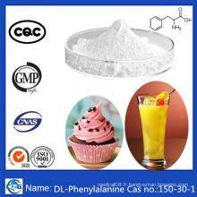 Usine d'alimentation en vrac en poudre Aminoacide CAS 150-30-1 Dl-Phenylalanine