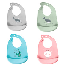 Silicone Baby Bibs Easily Wipe Clean