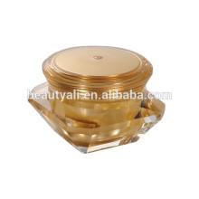Square diamond acrylic cream jar /30ml diamond cosmetic jar/purple color diamond sides cream jar