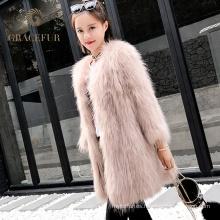 Abrigo de piel real del mapache coreano rápido del proveedor