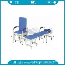 AG-AC004 hôpital inclinable pas cher chaises pliantes en métal pour les patients