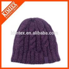 Moda Hombre Chunky Cable Knit Beanie Hat