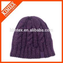 Мода Мужская коренастый кабель вязать шапочка Hat