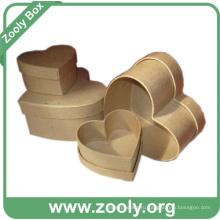 Коричневый цвет простой равнины гнездо картона подарочной коробке (ZC006)