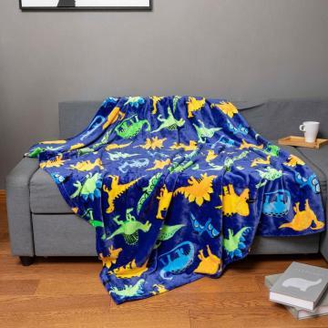Cartoon design children bedroom sofa blanket