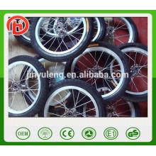 12 rueda de bicicleta de los rayos de la aleación de aluminio de 14 pulgadas, rueda de bicicleta del carbono