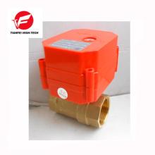 Válvula de cierre eléctrica de agua 12v 24v 110v ss304 latón CWX-60P 6nm