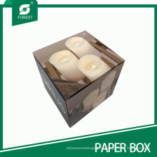Caixa de embalagem de vela ondulada artesanal impressa