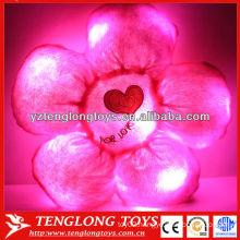 Hot Sale Lovely Flower Plush LED Pillow