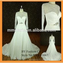 Robe de mariage musulmane sexy coeur doux bague de ceinture hijab musulmane robe de mariée en mariée