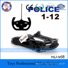 Mini 2.4g 1/12 4CH Electric High Speed Racing RC Police Car