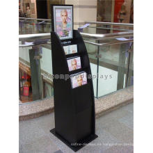 Al aire libre Matt negro madera pintada Stand Alone publicidad al aire libre para folletos