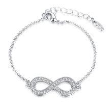 Art und Weise Platin überzogenes Armband Acht Form Cezch Bohrgerät-hängende Charme-Armband-Schmucksachen