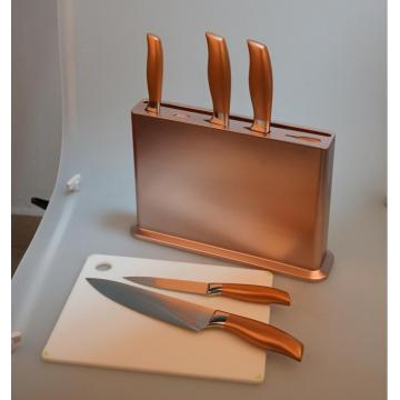 Diseño patentado Deluxe Copper Theme Kichen Knife Set