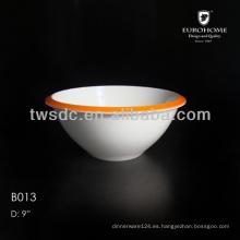 porcelana de color blanco que sirve cuencos cerámica Tigela
