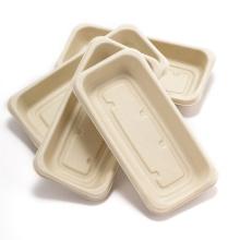 Prato de bandeja de comida de papel descartável premium marrom