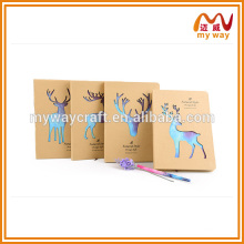 Exquisite kraft paper notebook made in china,new 2016