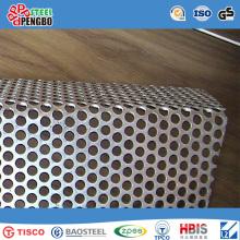 Hoja galvanizada de acero inoxidable perforado
