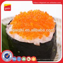 Fournisseur d'or Japon vert sushi séché poisson tobiko congelé