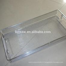 Désinfectez le panier de panier / panier en métal / acier inoxydable de haute qualité