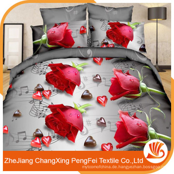 China Lieferanten Großhandel 3d Bettwäsche Set Stoff Material