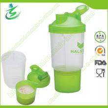 500ml Großhandel Custom Protein Shaker Flasche mit Pille Container