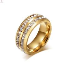 Кристалл Нержавеющей Стали Выгравированы Кольцо, Золото Палец Кольцо Конструкции Для Женщин С Ценой