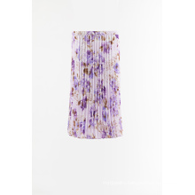 Print woven pleated skirt for Sale