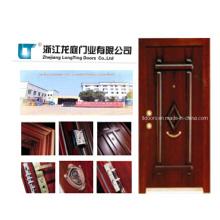 Acero de estilo turco madera blindada puerta LTK-006