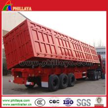 Semi reboques da descarga 3axles / caminhão basculante lateral com cilindro hidráulico