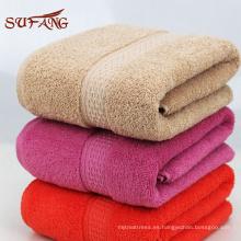 Uso en el hogar colorido jacquard satén engranaje turco baño de algodón conjunto de toallas