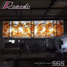 Modern Hotel Decorative Amber Glass Ball Chandelier