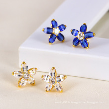 Xuping Fashion Zircon Flower Earring (23725)