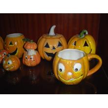 Ceramic Pumpkin Mug for Holloween