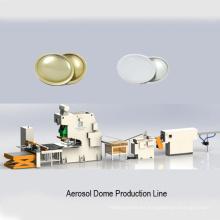 línea de producción de latas de cono de cúpula de tapa de aerosol