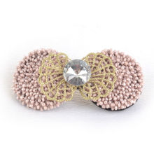 Hair Jewelry/Hair Clip/Leaf with Beads, Pearl Barrette (XHB1423)