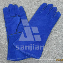 Full Palm Split Leder Ab / Bc Grade WIG Schweißschutzhandschuh