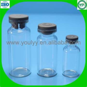 Frasco de vidrio tubular farmacéutico transparente