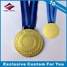 Promotion leere Metall-Goldmedaille mit Laser graviert Ihr eigenes Logo