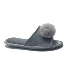 Women Pompoms warm Fuzzy Slip on indoor Slippers